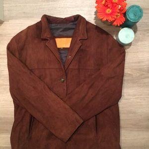 Timberland   Brown Lambskin Coat